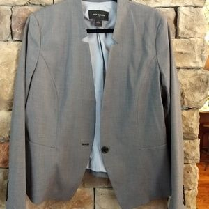 Ann Taylor gray suit jacket